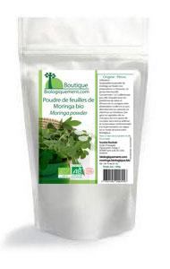 Achetez de poudre de Moringa bio sur la boutique Biologiquement.com